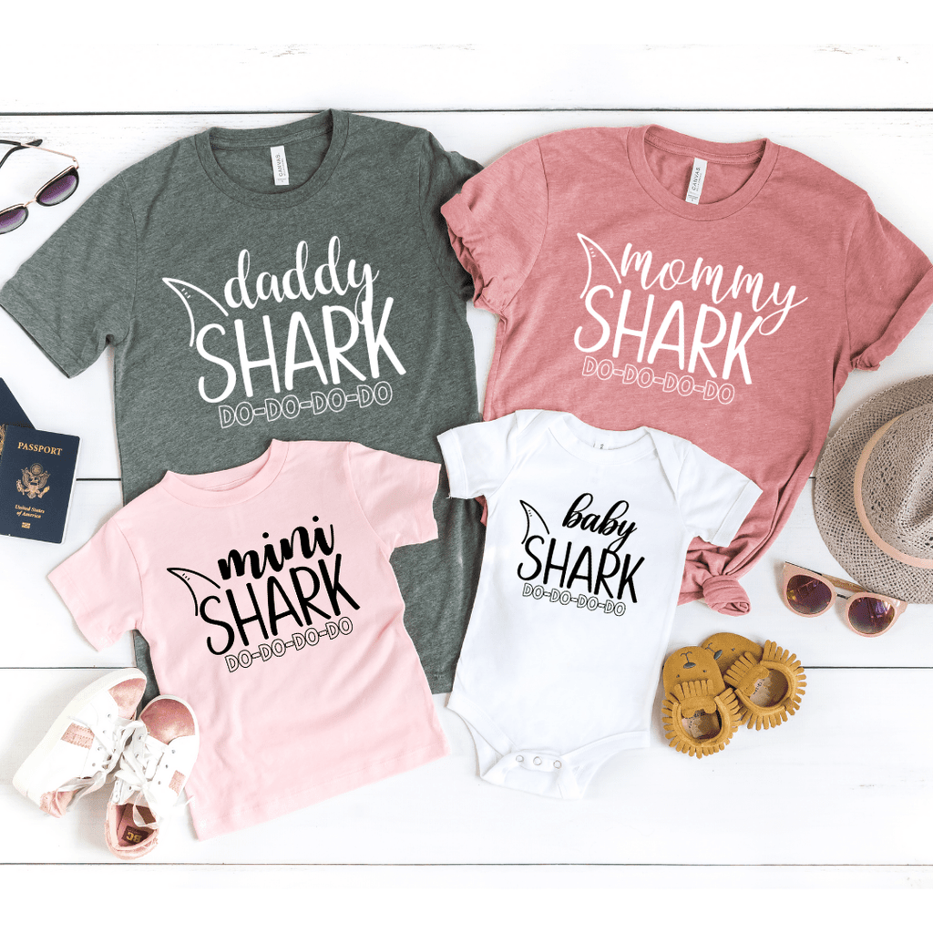 Mommy and Me Shirts, Matching Family Shirts, Mommy Daddy Baby Shark DO DO DO Matching Shirts Matching Mommy and Me Outfits Shark Family, Birthday Shark