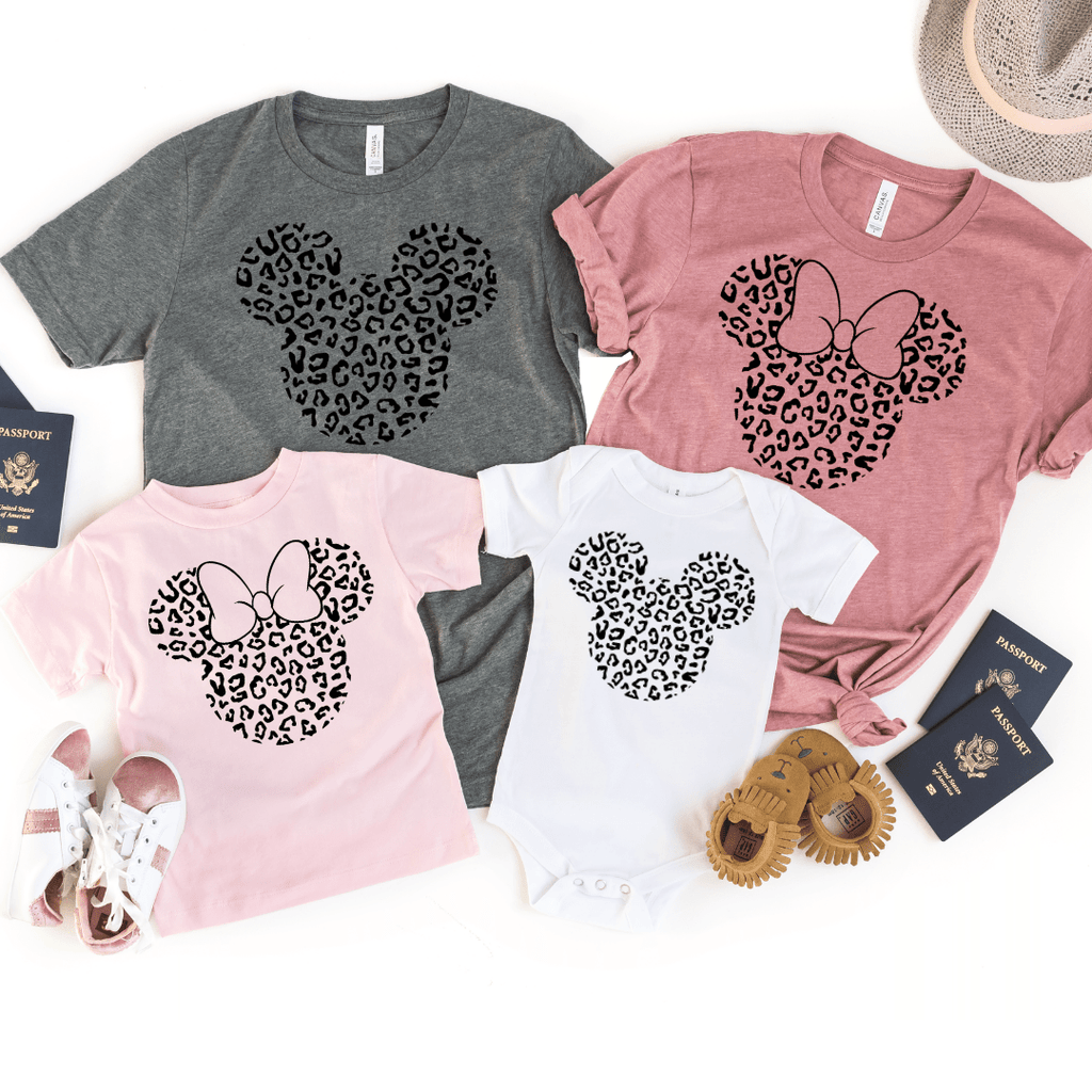 Disney Black Print Leopard, Disney Family Shirt, Minnie Shirt, Cheetah Minnie Mickey Shirt, Animal Kingdom shirt, Safari Shirt, Disney women's shirt, Disney Style Shirt
