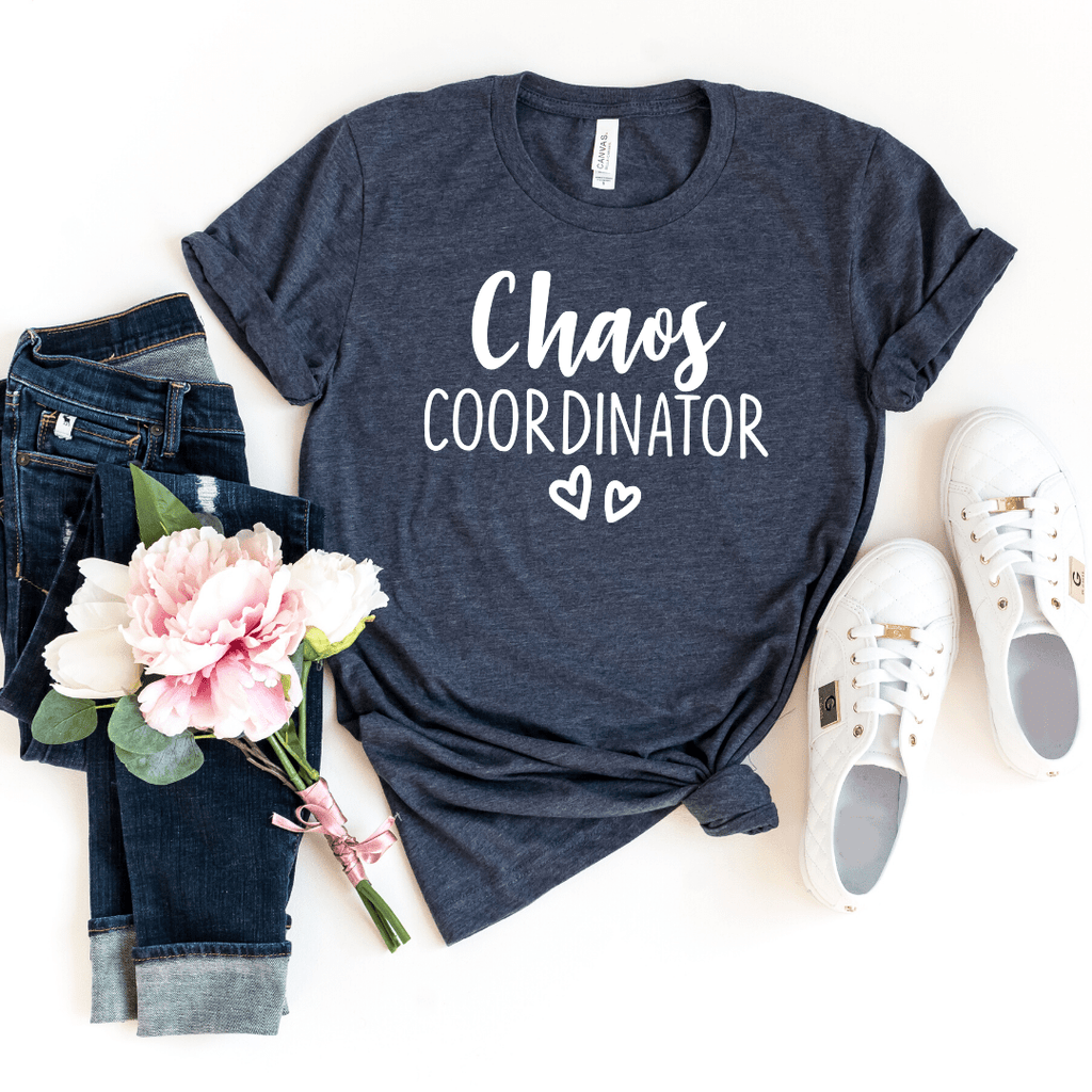 Chaos Coordinator Shirt, #MomLife Shirt, #TeacherLife Shirt, Mom Shirt, Teacher Shirt, Mother's Day Shirt, Preschool Teacher Shirt, Funny Mom Shirt, Funny Shirts for Women, Mom Life Shirt, Gift for Mom, Heather Navy