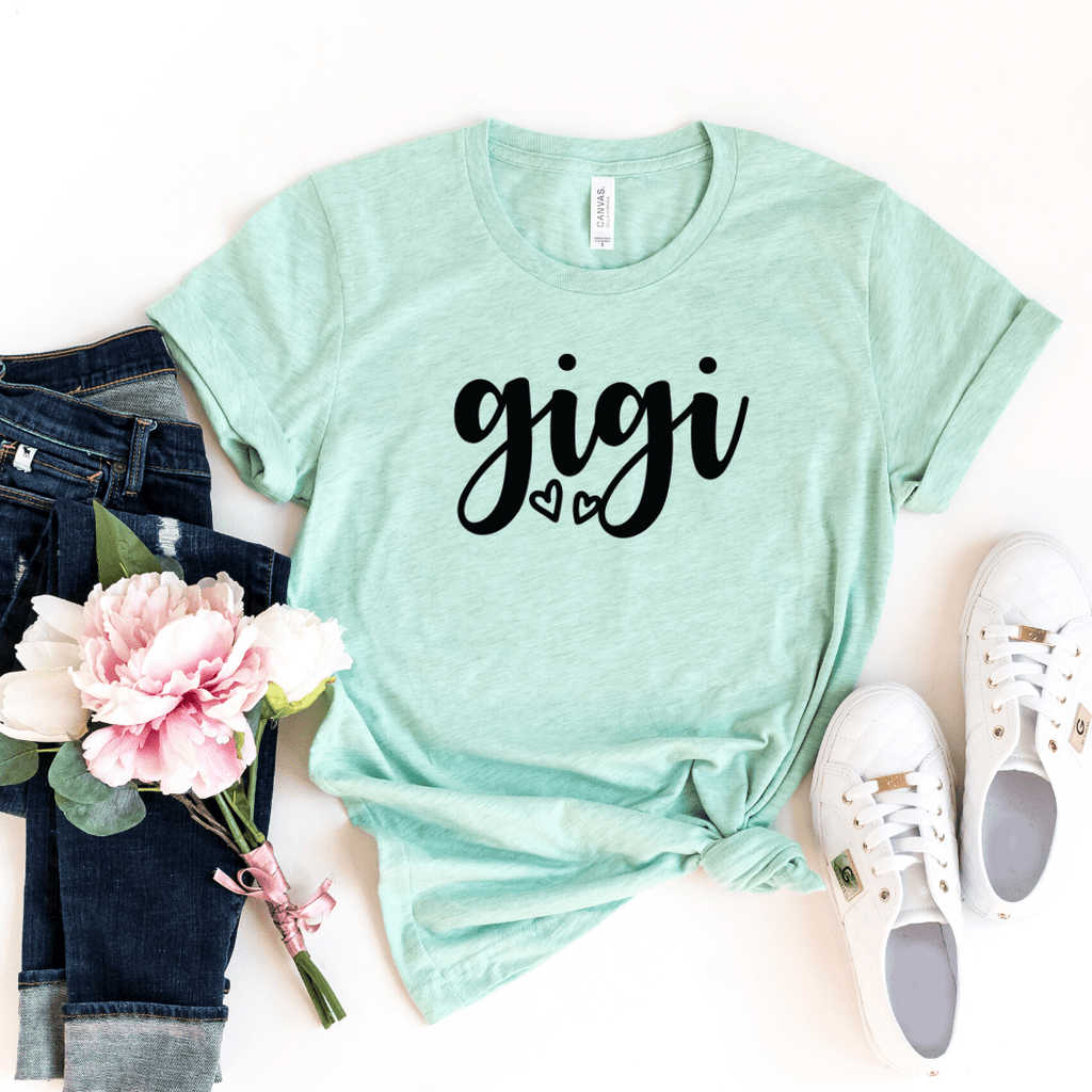 Gigi Shirt Gigi T-Shirt Tee Cute Gigi Gift for Gigi Grandma Grandmother  Mimi Gigi Shirts Grandma Pregnancy Announcement Motherhood shirt Mother's Day Grandma Shirt Mom Gift