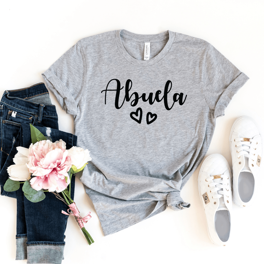 Abuela Shirt, Grandma Gift, Abuelita Shirt, Christmas Gift for Abuela, Mothers Day, Pregnancy Announcement Grandparents, Best Abuela Shirt, Abuela Gift, Athletic Heather
