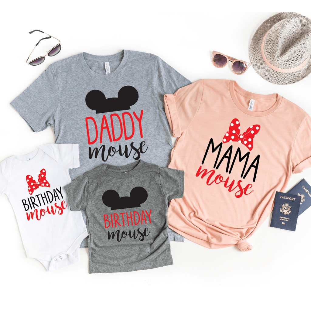 Minnie Mouse birthday shirt Mickey Mouse birthday t shirt Matching Family Mickey Mouse shirts Mommy Mouse shirts Daddy Mini Birthday Mouse shirts