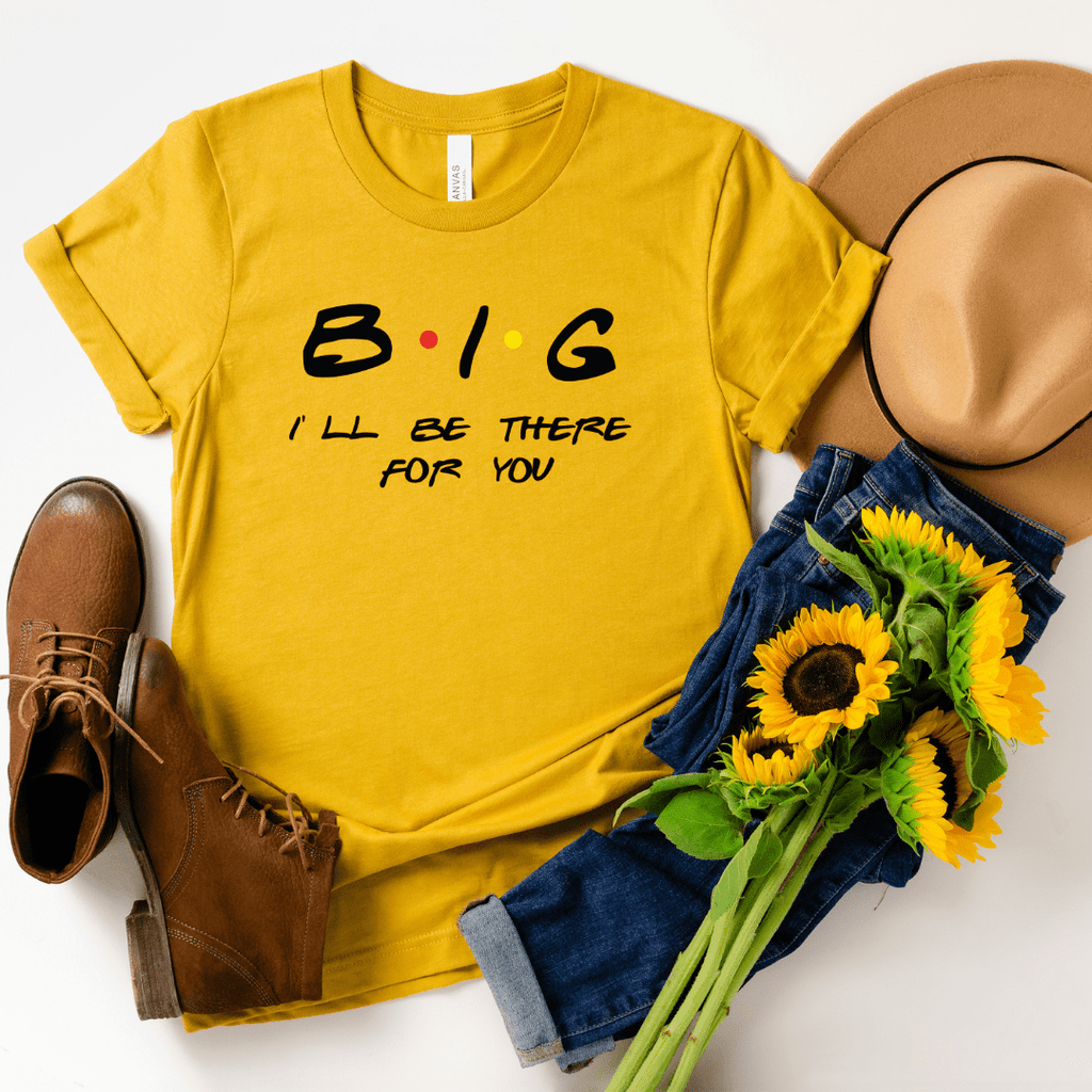 Big Little Sorority shirts Friends inspired sorority reveal shirts Big sister Little brother shirts Greek shirt, Heather Mustard