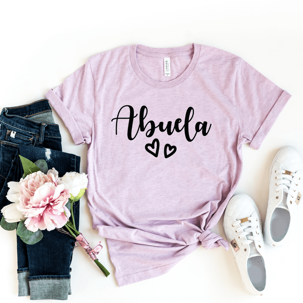 Abuela Shirt, Grandma Gift, Abuelita Shirt, Christmas Gift for Abuela, Mothers Day, Pregnancy Announcement Grandparents, Best Abuela Shirt, Abuela Gift, Heather Prism Lilac