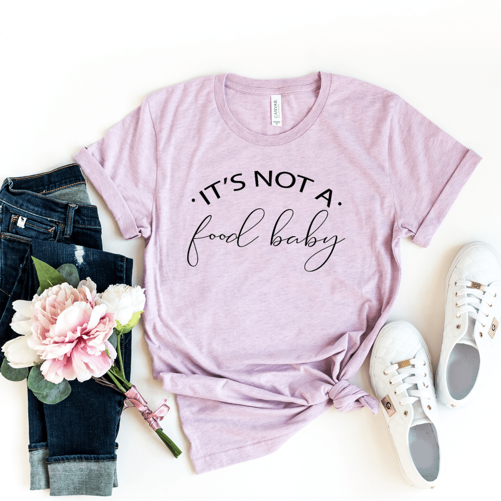 Pregnancy Announcement Shirt, It's Not a Food Baby, Pregnant Shirt, Pregnancy Reveal Shirt, New Mom Shirt, Pregnant AF, Expecting Shirt, Pregnancy Announcment Shirt, Maternity shirt funny, Heather Prism Lilac