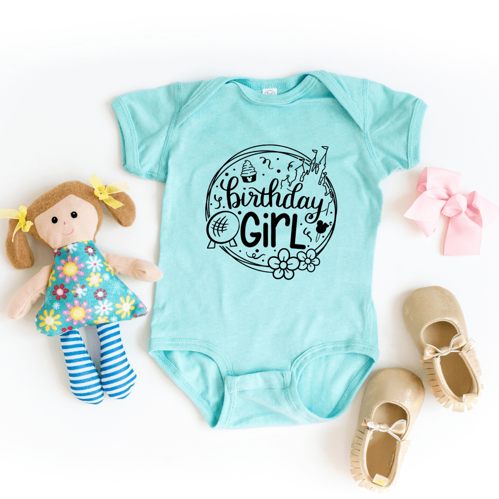 Birthday Girl Disney Shirt, Disney Birthday Shirt, Toddler Shirt & Baby Bodysuit, birthday shirts girl, birthday squad shirts, Chill