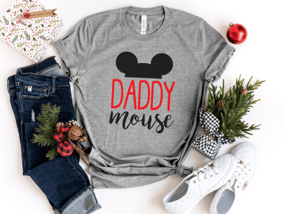 Christmas Family Mommy and me Disney shirts Outfits Christmas Gift Mama Mini Papa Mouse Matching Shirt Vacation Shirts Set