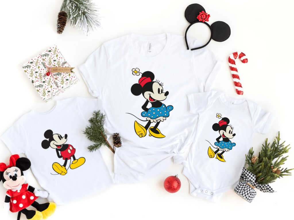 Vintage Minnie Mickey Mouse Shirts Christmas Disney Matching Shirts for the Family, Christmas Family Gifts