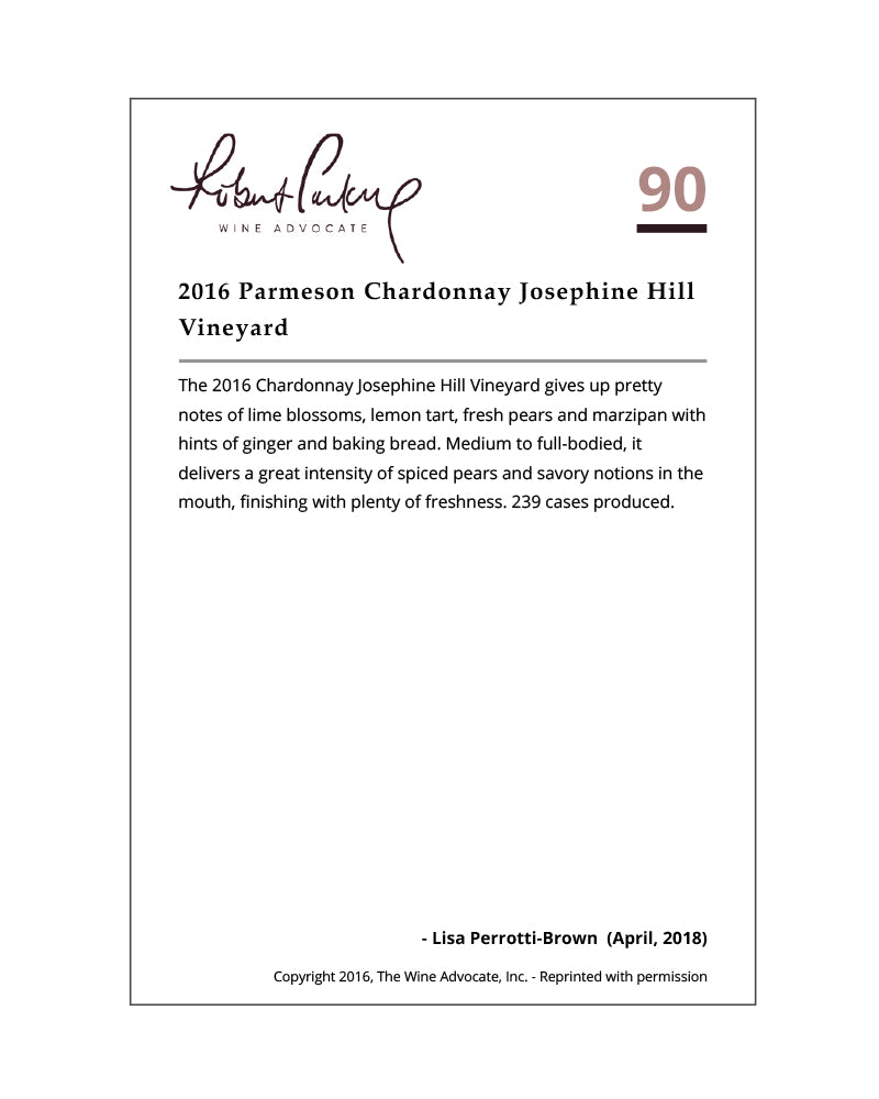 2016 Chardonnay | Russian River Valley | Josephine Hill Vineyard