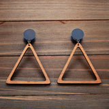 Tan Wood Triangle Open Hoop Plug Gauges 4g, 2g, 0g, 00g, 7/16, 1/2, 9/16, 5/8, 3/4