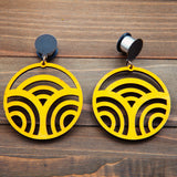 Yellow Laser Cutout Circles Plug Gauges 20g 4g, 2g, 0g, 00g, 7/16, 1/2, 9/16, 5/8, 3/4