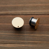 Brass Dipped in Gold Blanks Plug Gauges 4g, 2g, 0g, 00g,  7/16, 1/2, 9/16, 5/8, 3/4