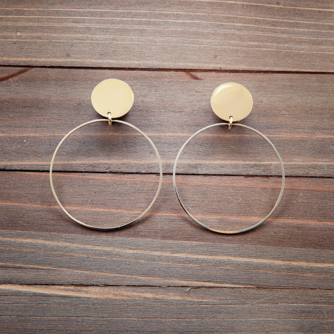 Large Gold Hoops Plug Gauges  4g, 2g, 0g, 00g, 7/16, 1/2, 9/16, 5/8, 3/4