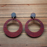 Coffee Wood Hoops Plug Gauges 4g, 2g, 0g, 00g, 7/16, 1/2, 9/16, 5/8, 3/4