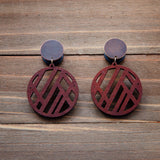 Small Coffee Wood Circle Cut Out Plug Gauges 20g 4g, 2g, 0g, 00g, 7/16, 1/2, 9/16, 5/8, 3/4