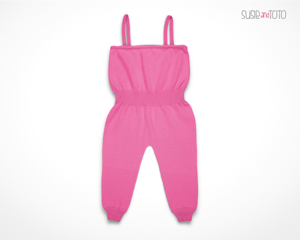 Susie and Toto - Little Girl Jumpsuit - Susanna (Hot Pink)