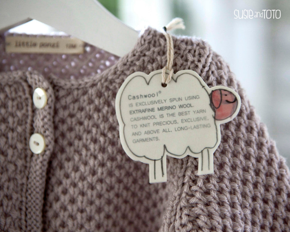 Susie And Toto Little Girl Cardigan Olivia Lilac