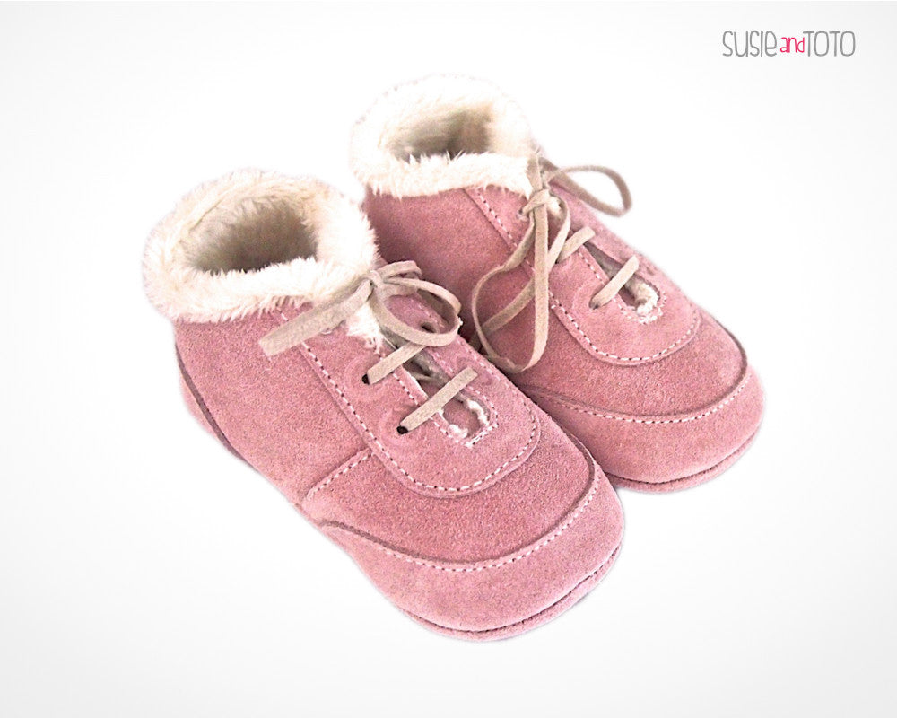 Baby Suede Shoes Baby Girl Enza Red