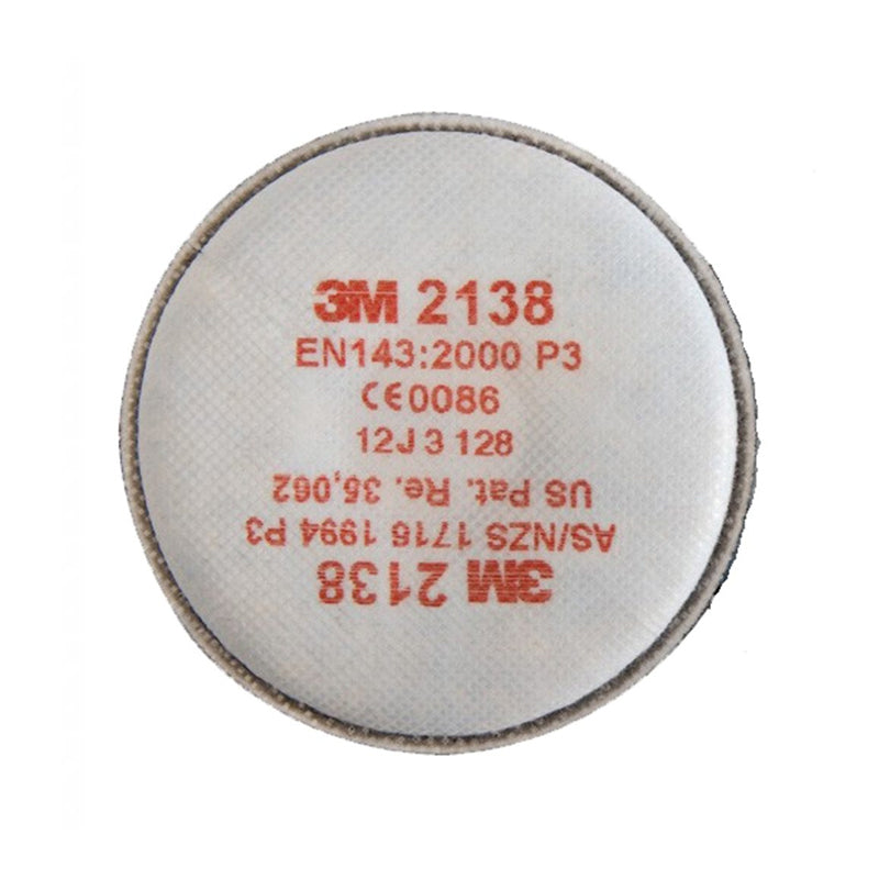 3M P3 Replacement Particulate Twin Filters - 2138