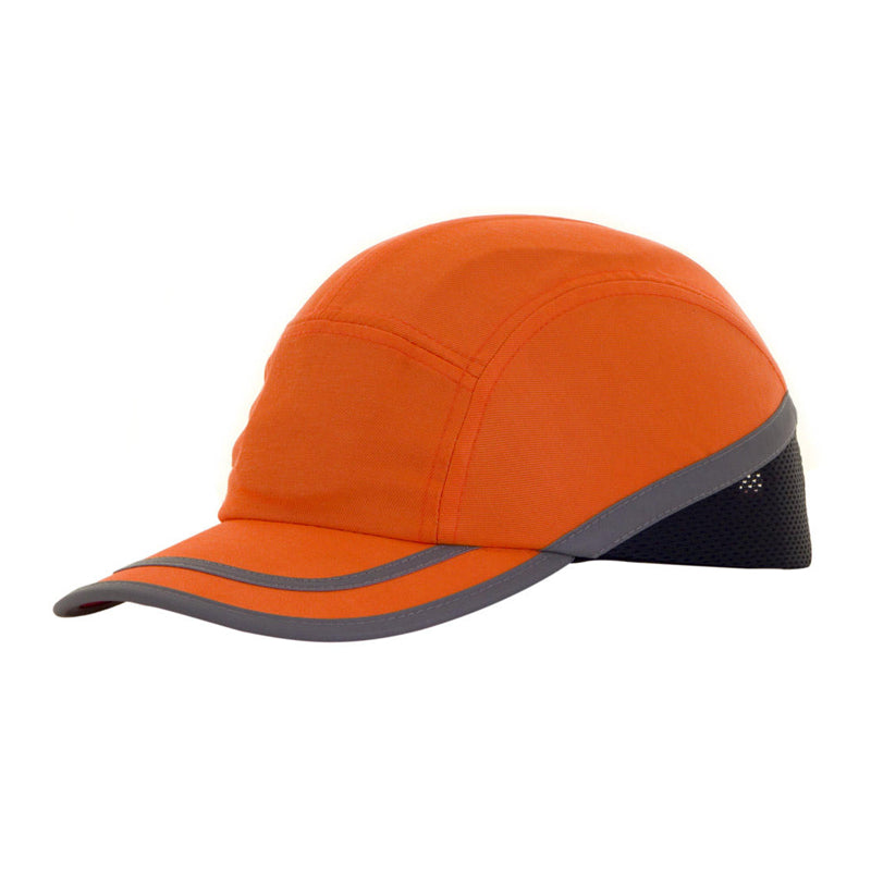 Hi Vis Safety Baseball Cap - Orange