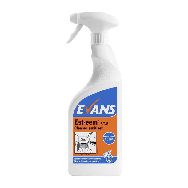 Evans Esteem Cleaner Sanitiser (6 x 750ml)