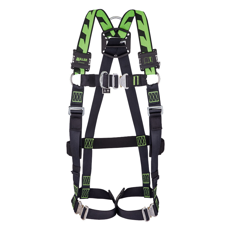 Miller H-Design® 2 Points Harness with Stretch Webbing, Auto Front D-ring