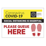 Covid-19 Queue Floor Sticker