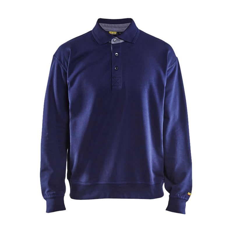 Blaklader 100% Cotton Sweatshirt with Collar 3370 - 1158