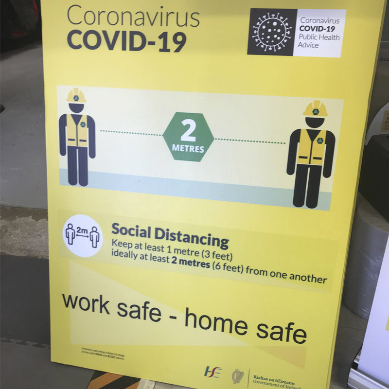 "Covid-19 ""Social Distancing"" Corri Sign"