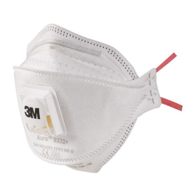 3M Aura™ Particulate Respirator 9332+ Valved - Pack of 10