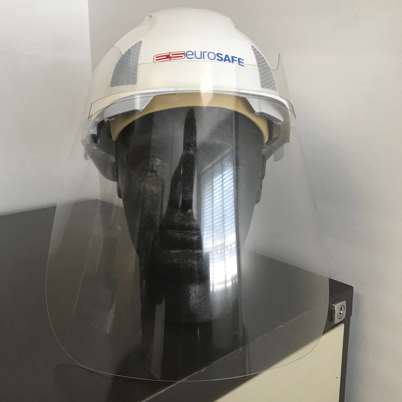 Helmet Mounted Face Shield - (600 MICRON)