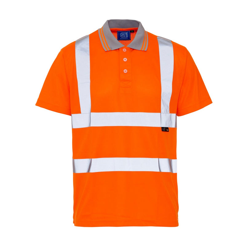 Supertouch Hi Vis Polo Shirt - Orange