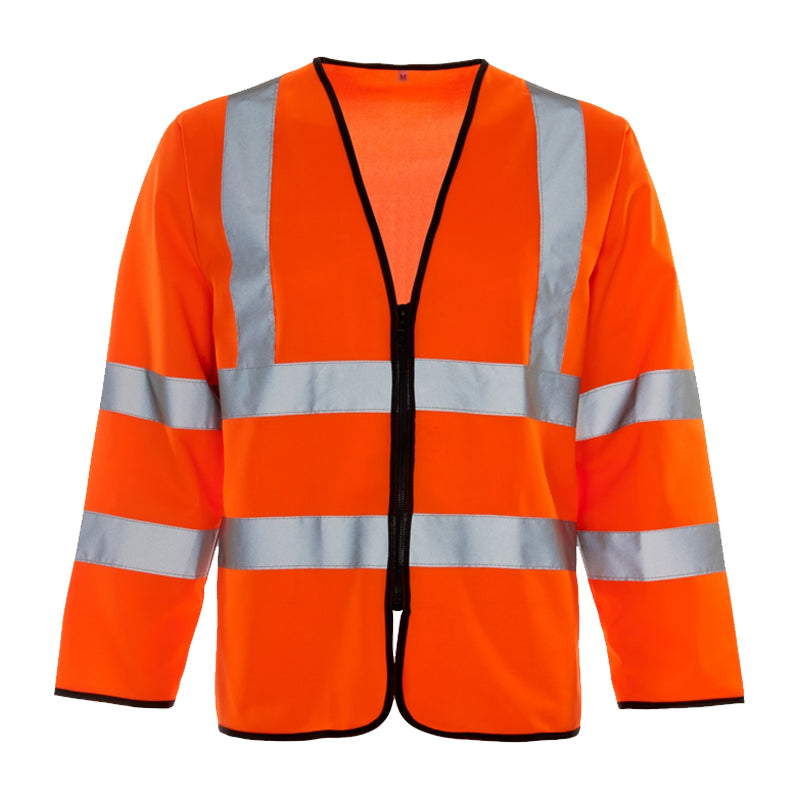 Hi Vis Long Sleeved Zipped Vest