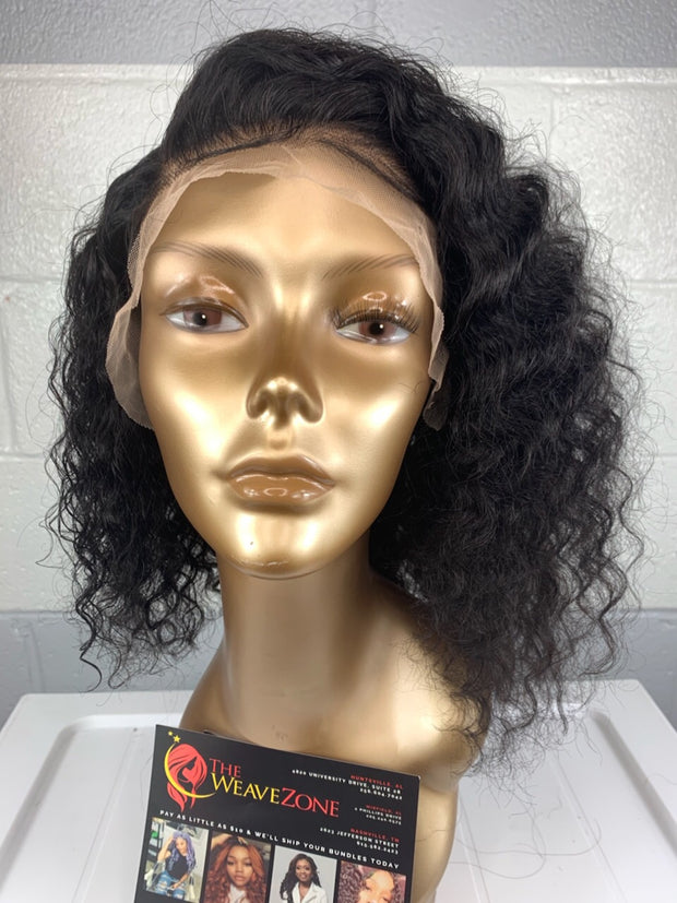 Ashlee Bianca - Easy-Install Deep Wave Lace Frontal Wig. 150% Density. Can Be Worn Glue-less.