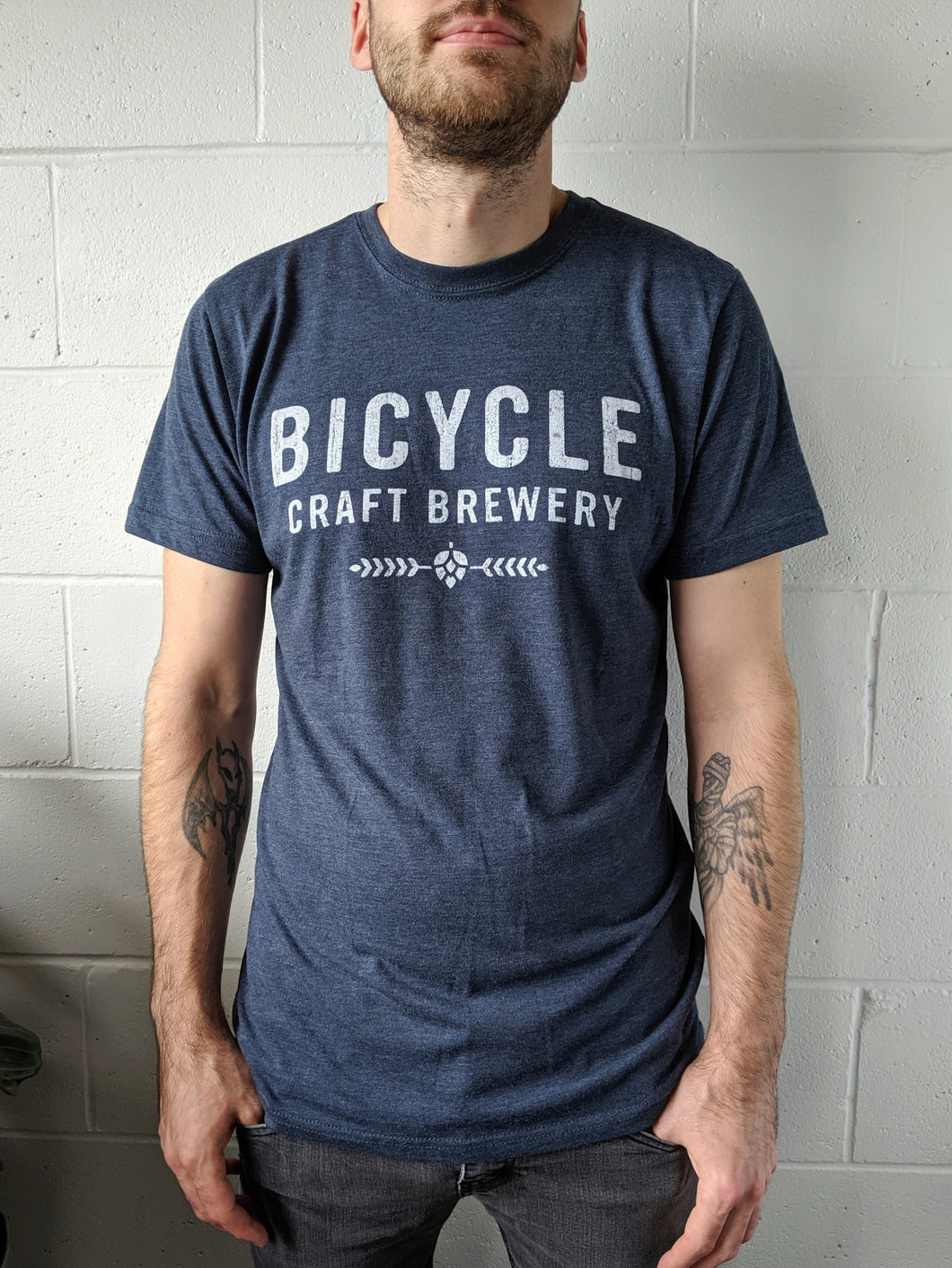 Vintage Navy Blue Bicycle Tee