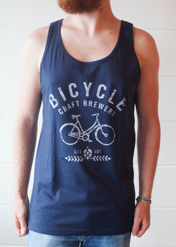 Navy Blue Bicycle Tank Top