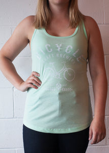 Mint Bicycle Tank Top Ladies
