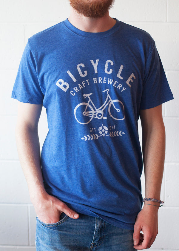 Vintage Blue Bicycle Logo Tee