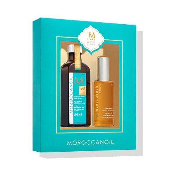 Moroccanoil 100ml Light Oil with FREE Dry Body Oil