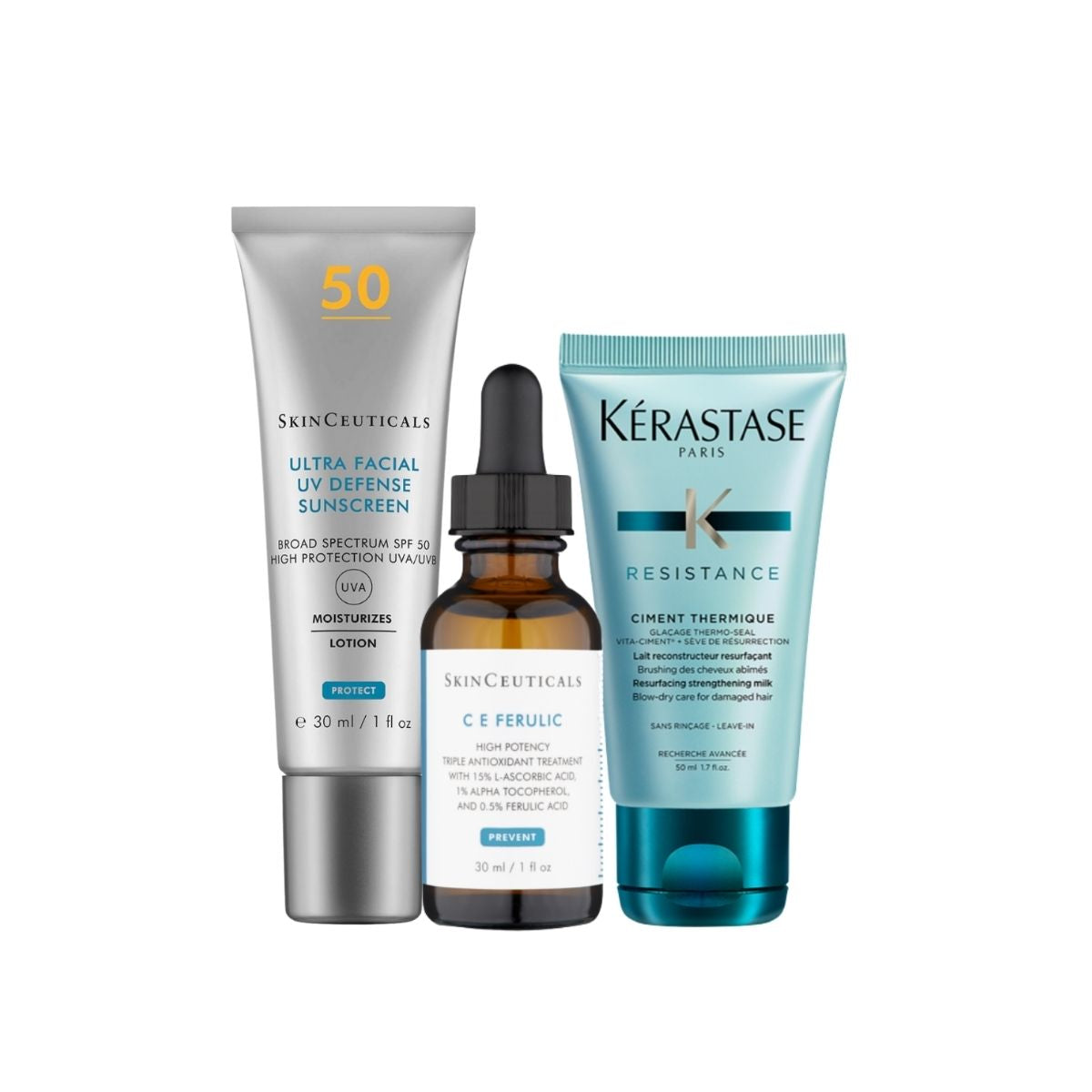 Anti-ageing Bundle: SkinCeuticals C E Ferulic 30ml + Free Kerastase Mini