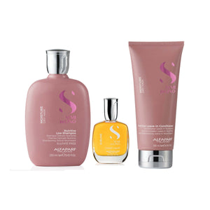 ALFAPARF Moisture Winter Collection Set Semi Di Lino Value Bundle