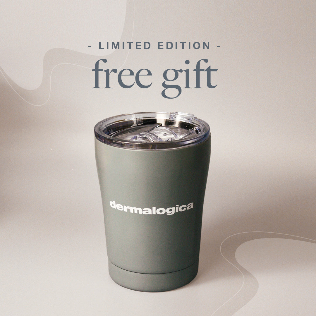 Free Limited Edition Cup, when you purchase 2 or more Dermalogica products. One gift per order. While stocks last