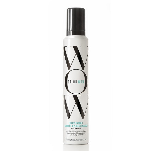 Color Wow Brass Banned Correct & Perfect Mousse Dark Hair