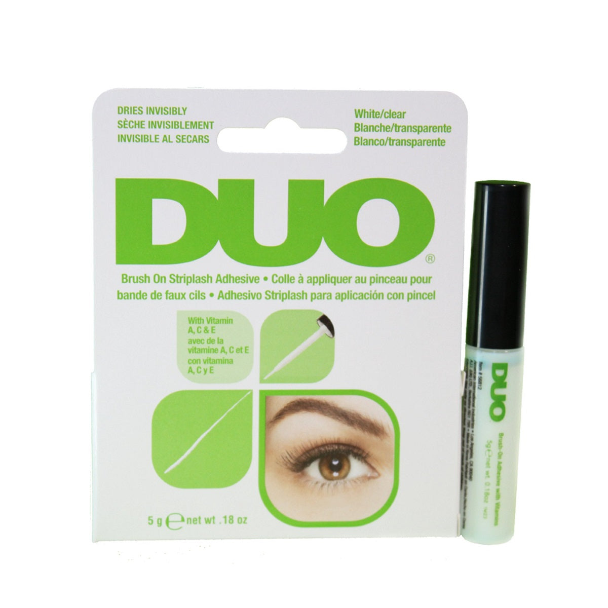 Duo Clear/White Brush On Lash Glue