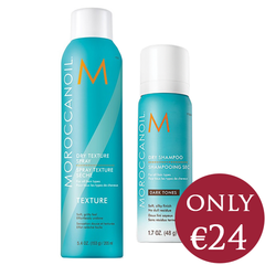 Moroccanoil Dry Texture Spray & Travel Size Dry Shampoo Dark