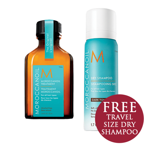 Moroccanoil Travel Size with FREE Travel Size Dry Shampoo Dark