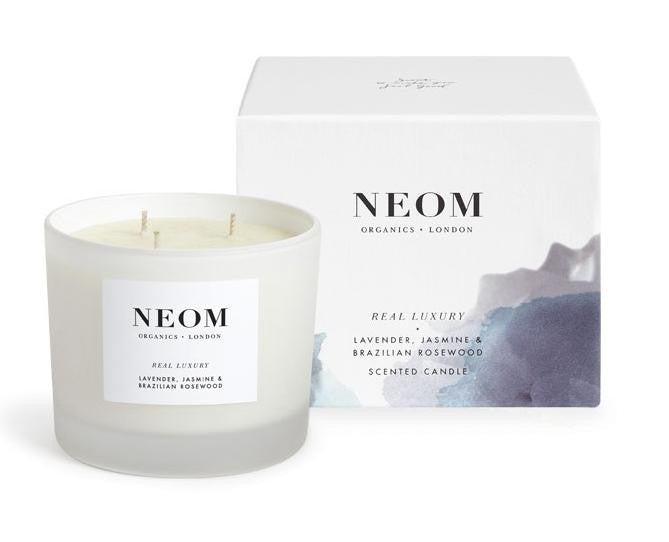 Neom Scent to De-Stress Real Luxury Candle 3 Wick