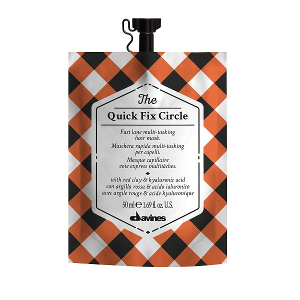 50ml Davines The Quick Fix Circle Mask is a fast acting, regenerating hair mask that takes just 3 minutes to moisturise and de-tangle your hair leaving it soft, silky and renewed.