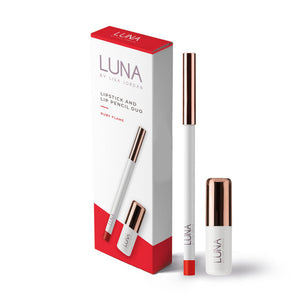 Luna by Lisa Jordan Lipstick & Pencil Duo Set Ruby Flame