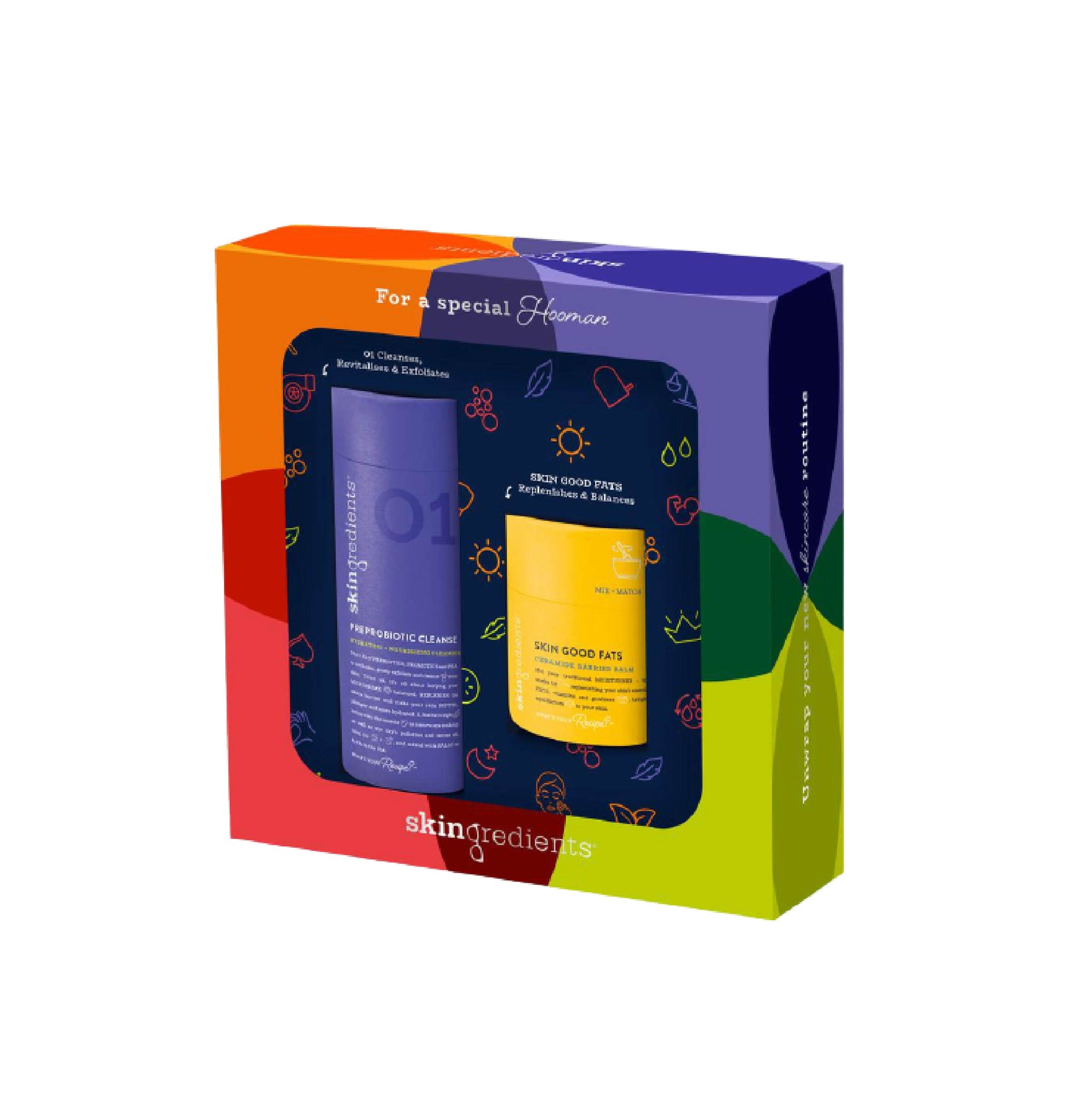 Skingredients Preprobiotic Cleanser + Good Fats Gift Set
